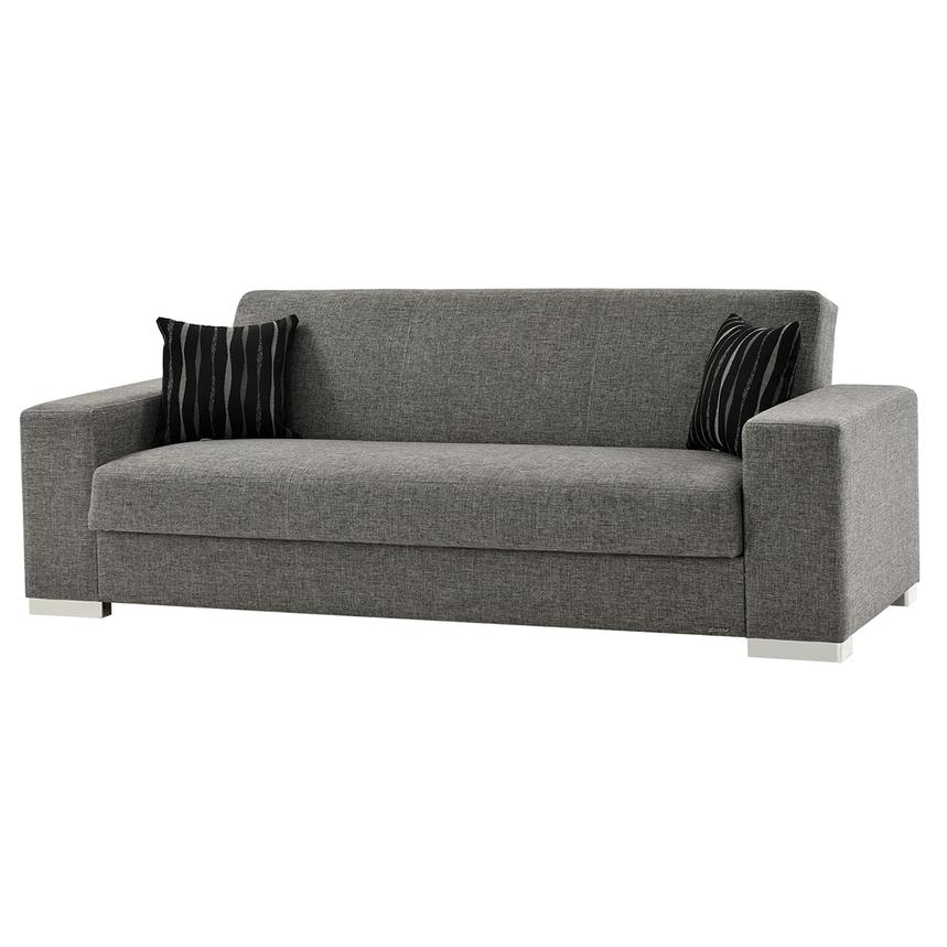 Kobe Gray Futon Sofa  main image, 1 of 7 images.