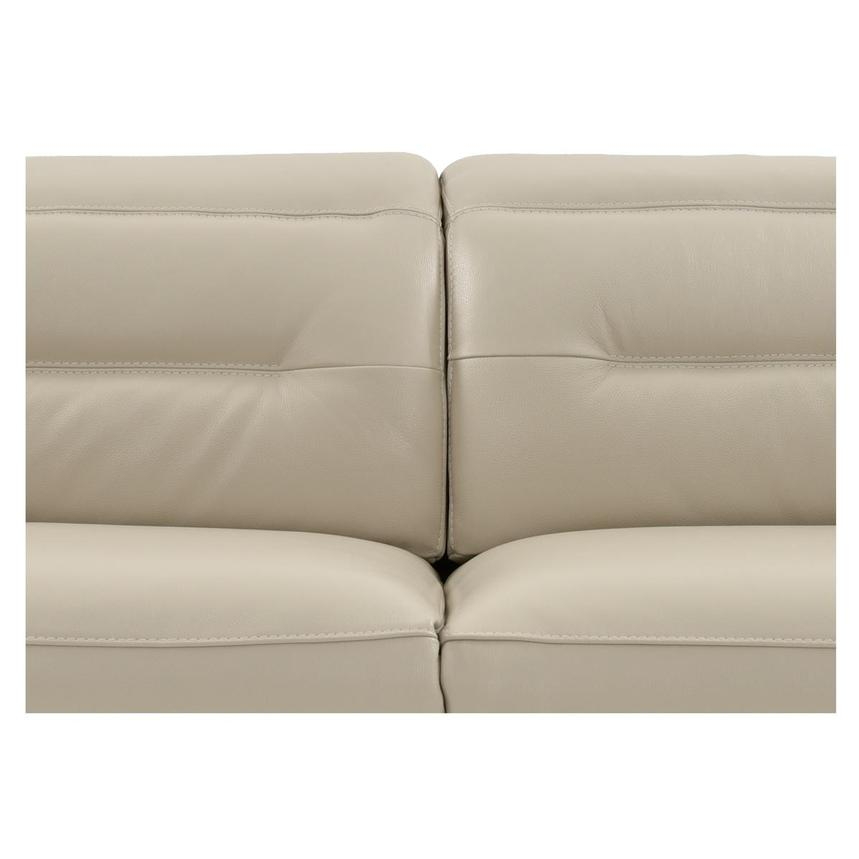 Anabel Cream Leather Power Reclining Sectional  alternate image, 11 of 16 images.