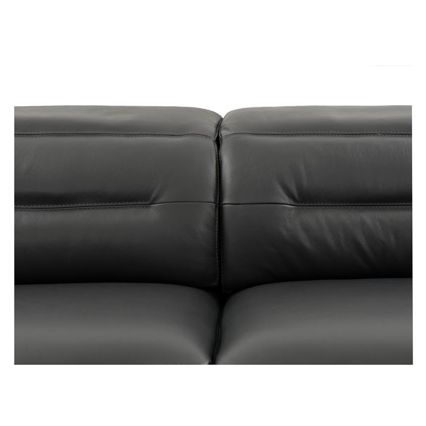 Anabel Gray Power Motion Leather Sofa w/Right & Left Recliners  alternate image, 6 of 11 images.