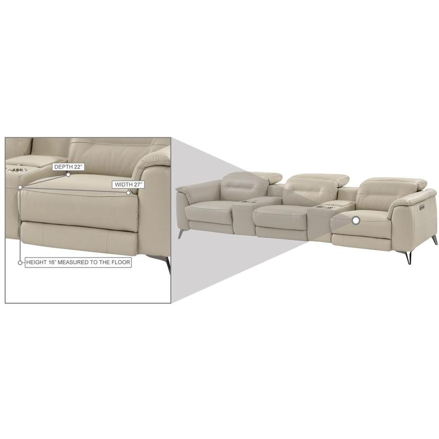 Anabel Cream Home Theater Leather Seating  alternate image, 12 of 13 images.