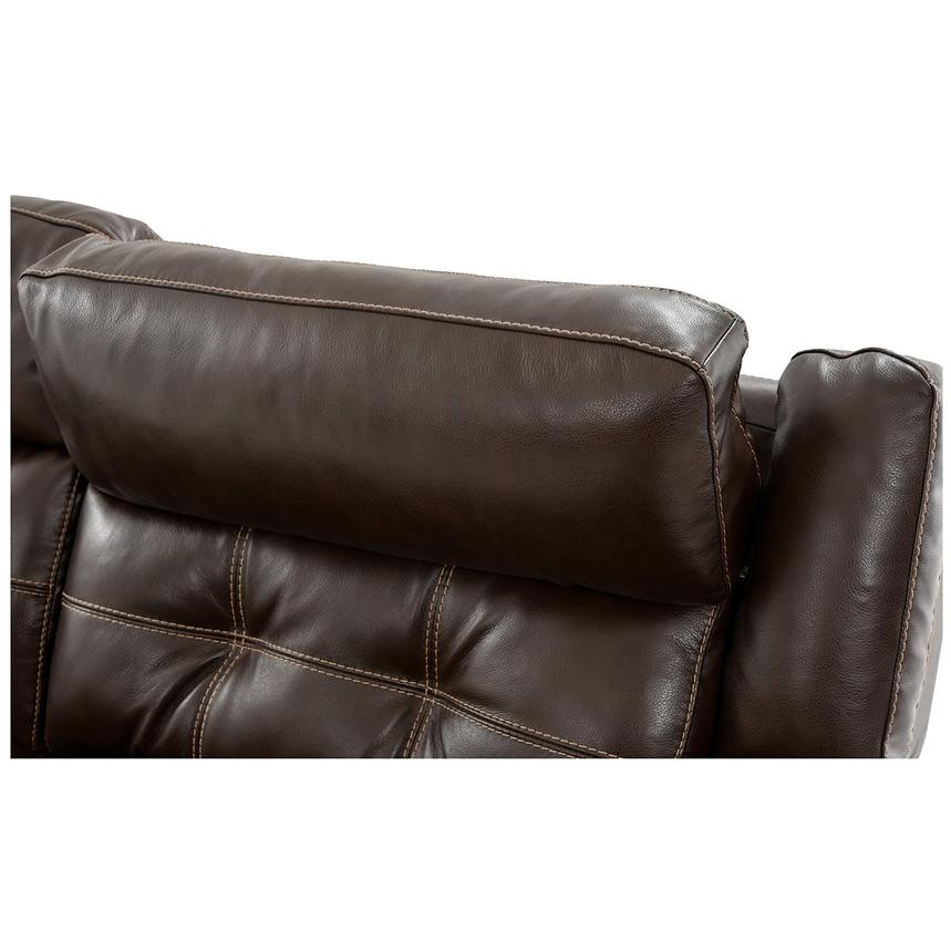 Stallion Brown Leather Power Reclining Sofa w/Console  alternate image, 6 of 9 images.