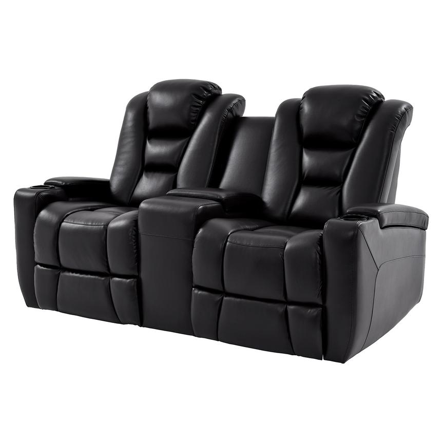 Transformer Ii Black Motion Sofa W Console Main Image 1 Of 10 Images