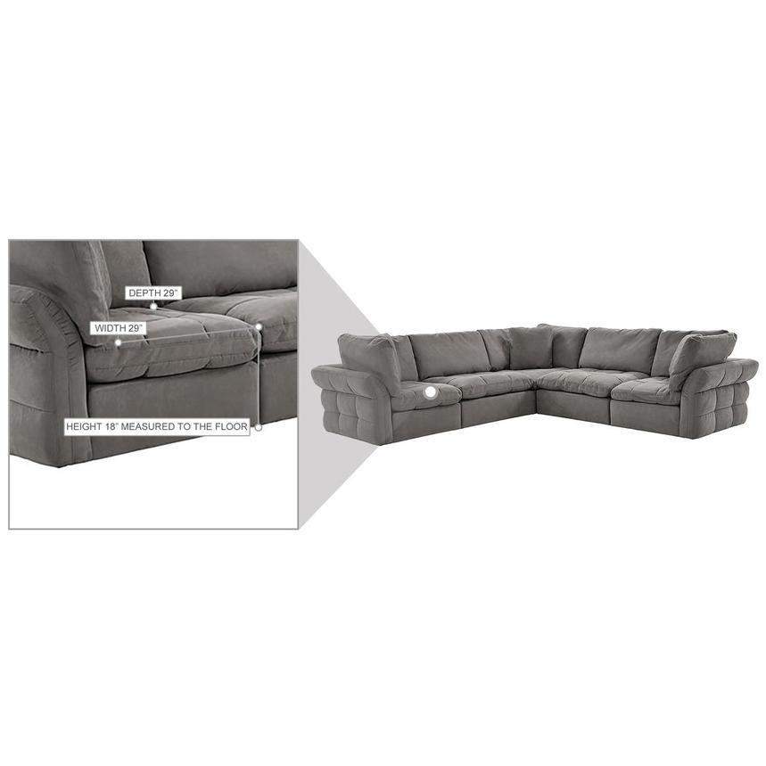 Francine Gray Sectional Sofa  alternate image, 10 of 11 images.