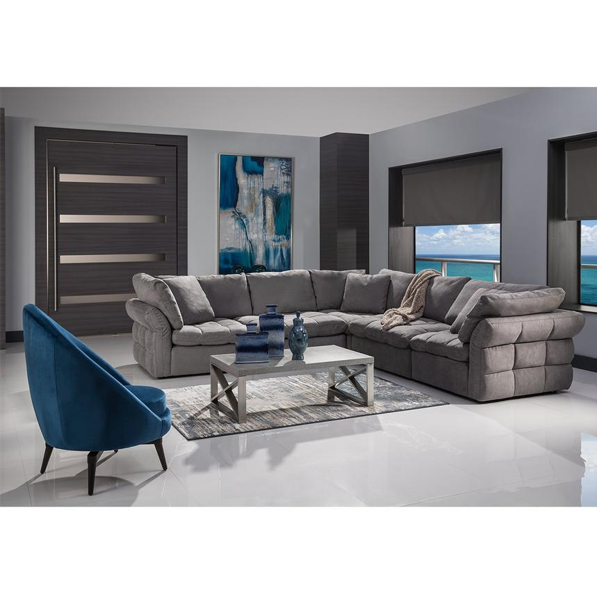 Francine Gray Sectional Sofa El, El Dorado Furniture Miami