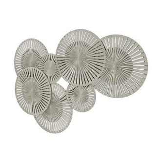 Cerchi Silver Wall Decor