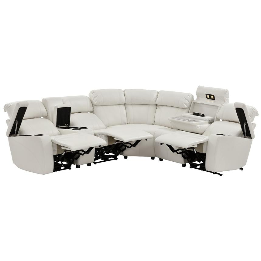 Magnetron White Power Motion Sofa w/Right & Left Recliners  alternate image, 2 of 12 images.