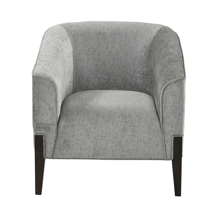 Sabine Gray Accent Chair w/Ottoman  alternate image, 3 of 10 images.