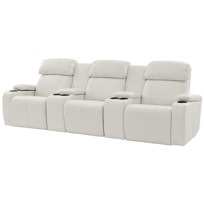 Magnetron White Home Theater Seating El Dorado Furniture