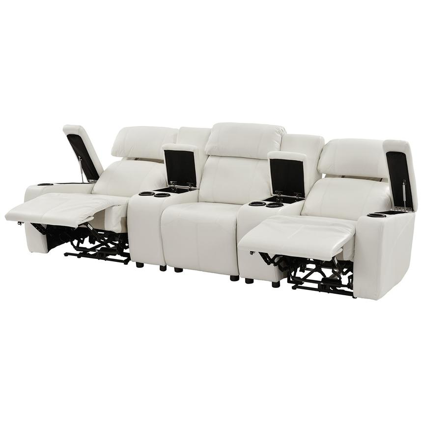 Magnetron White Home Theater Seating El Dorado Furniture