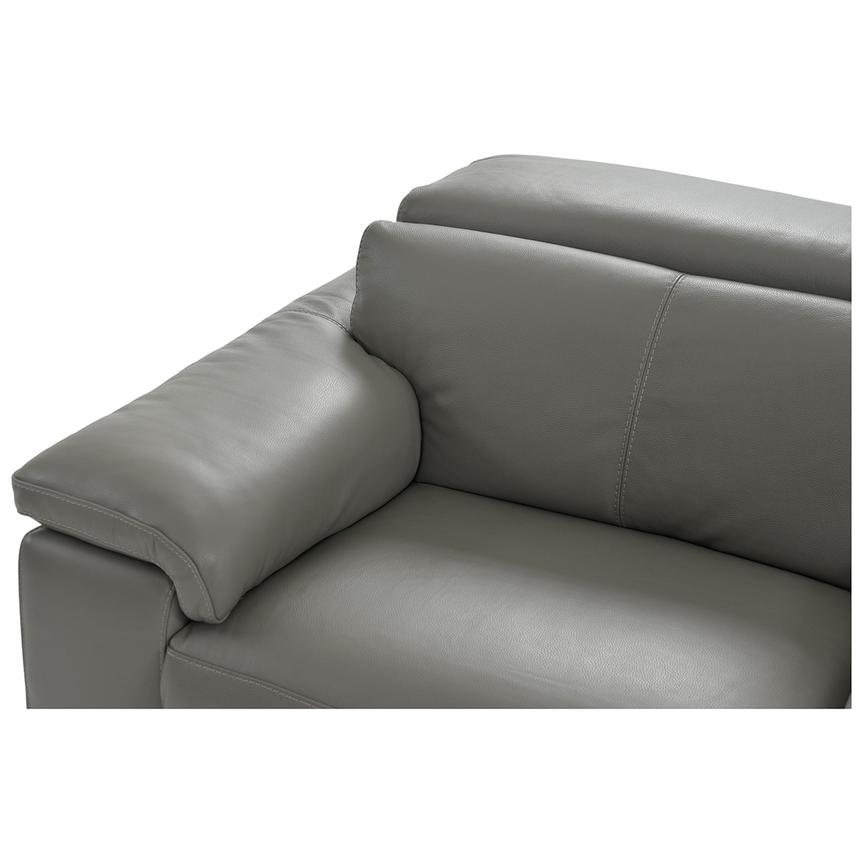 Charlie Gray Leather Power Reclining Sectional  alternate image, 5 of 12 images.