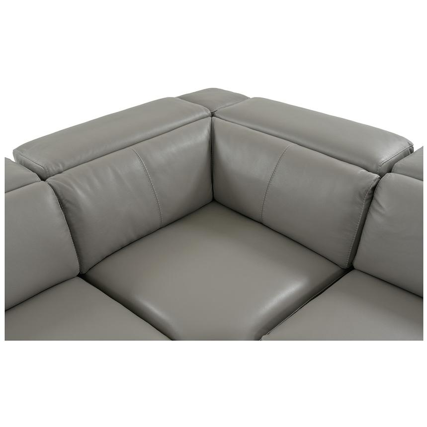 Charlie Gray Leather Power Reclining Sectional  alternate image, 6 of 12 images.