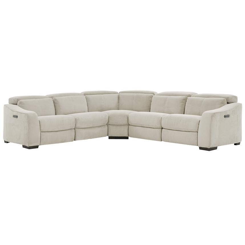 Jameson White Power Reclining Sectional  main image, 1 of 9 images.