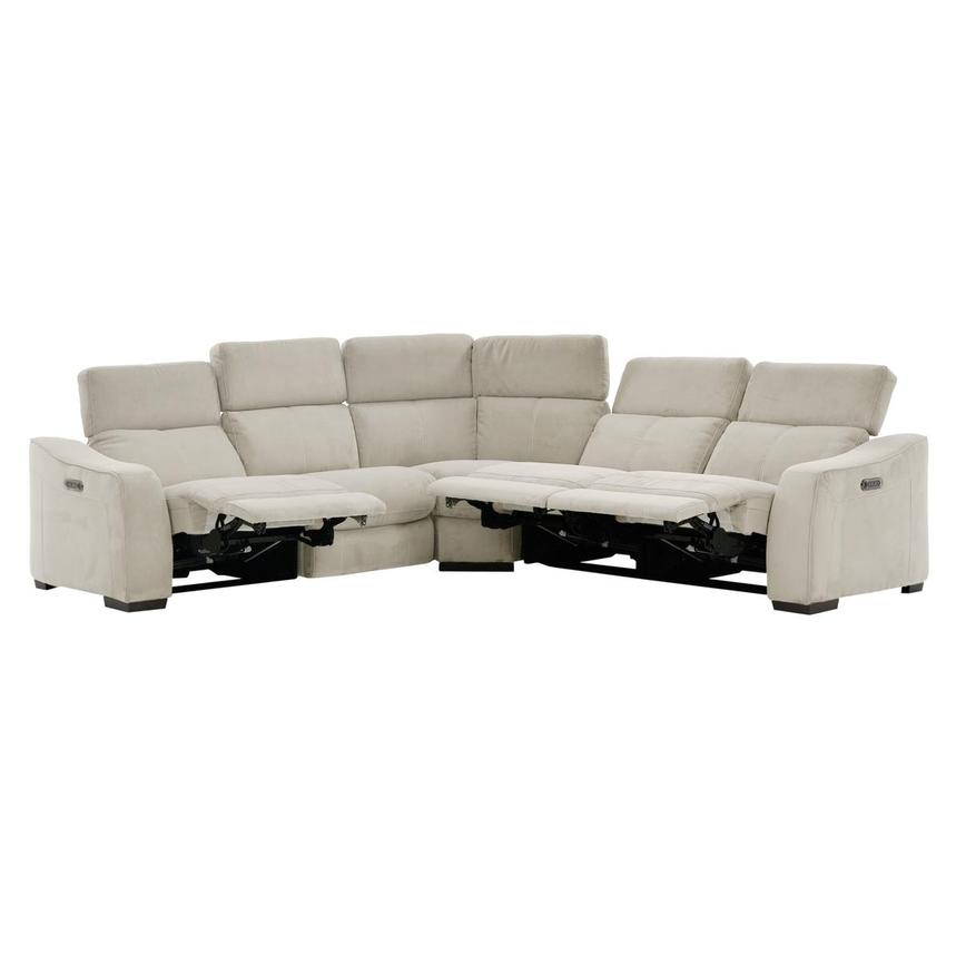 Jameson White Power Motion Sofa w/Right & Left Recliners  alternate image, 2 of 9 images.
