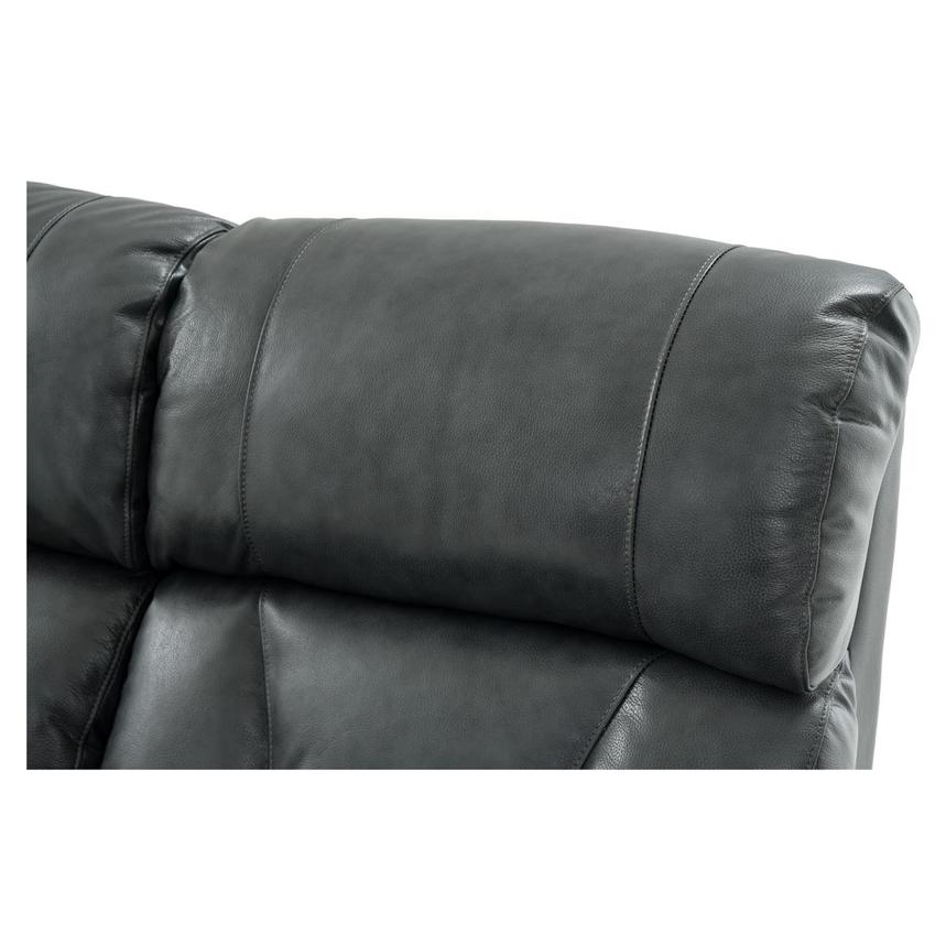 Gio Gray Power Motion Leather Sofa  alternate image, 11 of 13 images.