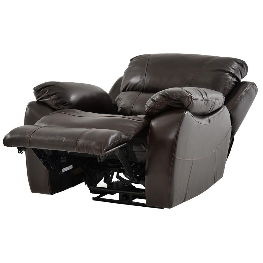 Mack Brown Power Motion Leather Recliner  alternate image, 2 of 5 images.