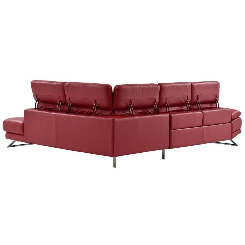 Toronto Red Leather Power Reclining Sofa w/Right Chaise  alternate image, 5 of 13 images.
