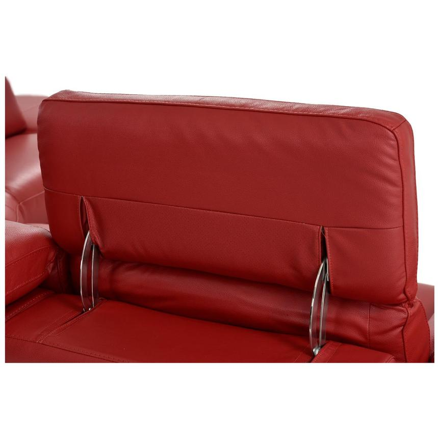 Toronto Red Leather Power Reclining Sofa w/Right Chaise  alternate image, 10 of 13 images.