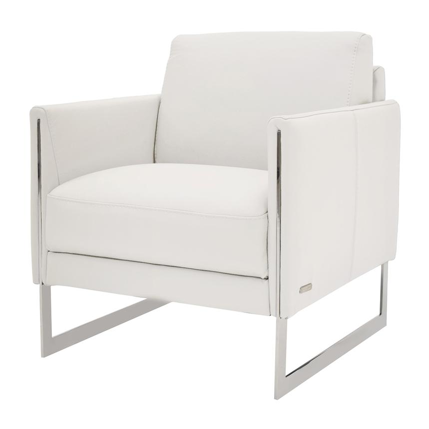 Coco White Leather Accent Chair  alternate image, 2 of 4 images.