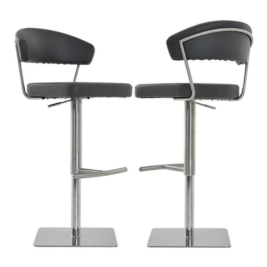Bold Gray Adjustable Stool  main image, 1 of 6 images.