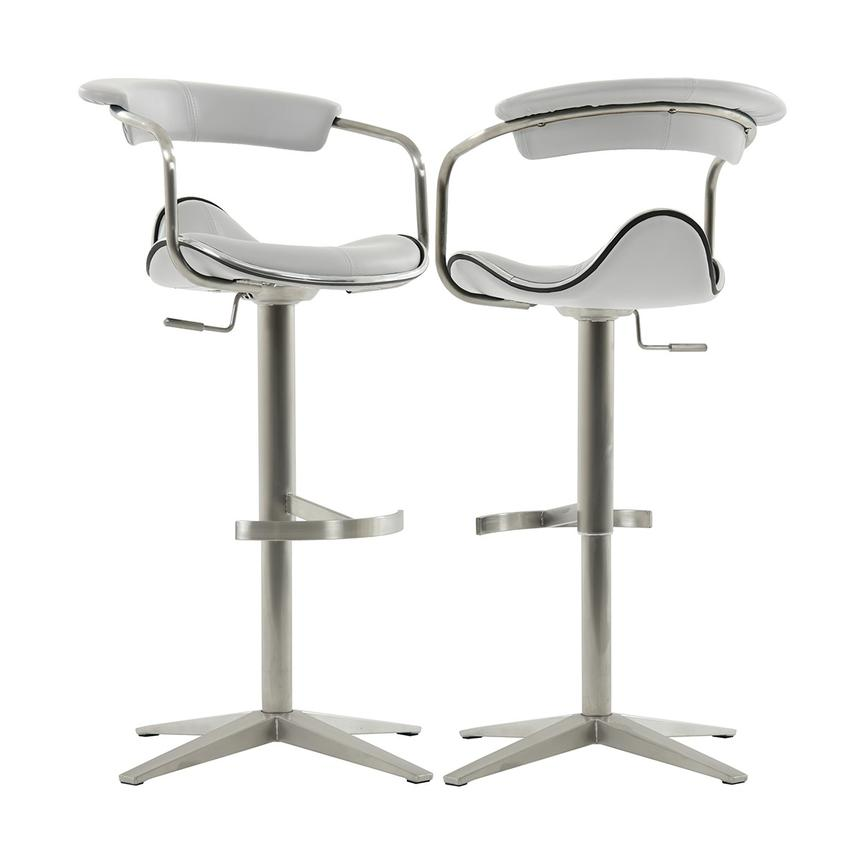 Primo White Adjustable Stool  main image, 1 of 6 images.
