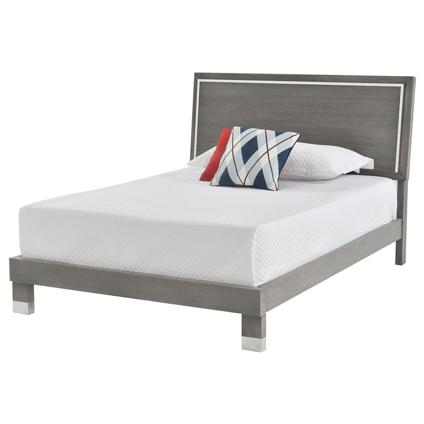 Venezia Gray Queen Platform Bed Made in Brazil  main image, 1 of 5 images.