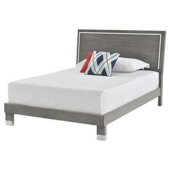 Venezia Gray Queen Platform Bed Made in Brazil