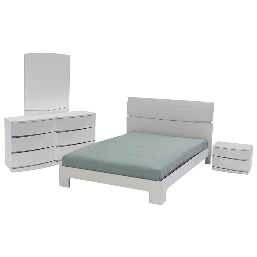 Brighton White 4-Piece Queen Bedroom Set  main image, 1 of 6 images.