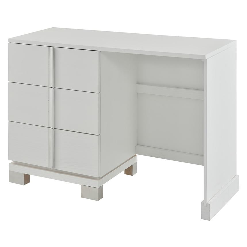 Venezia White Vanity Desk Made in Brazil  main image, 1 of 7 images.