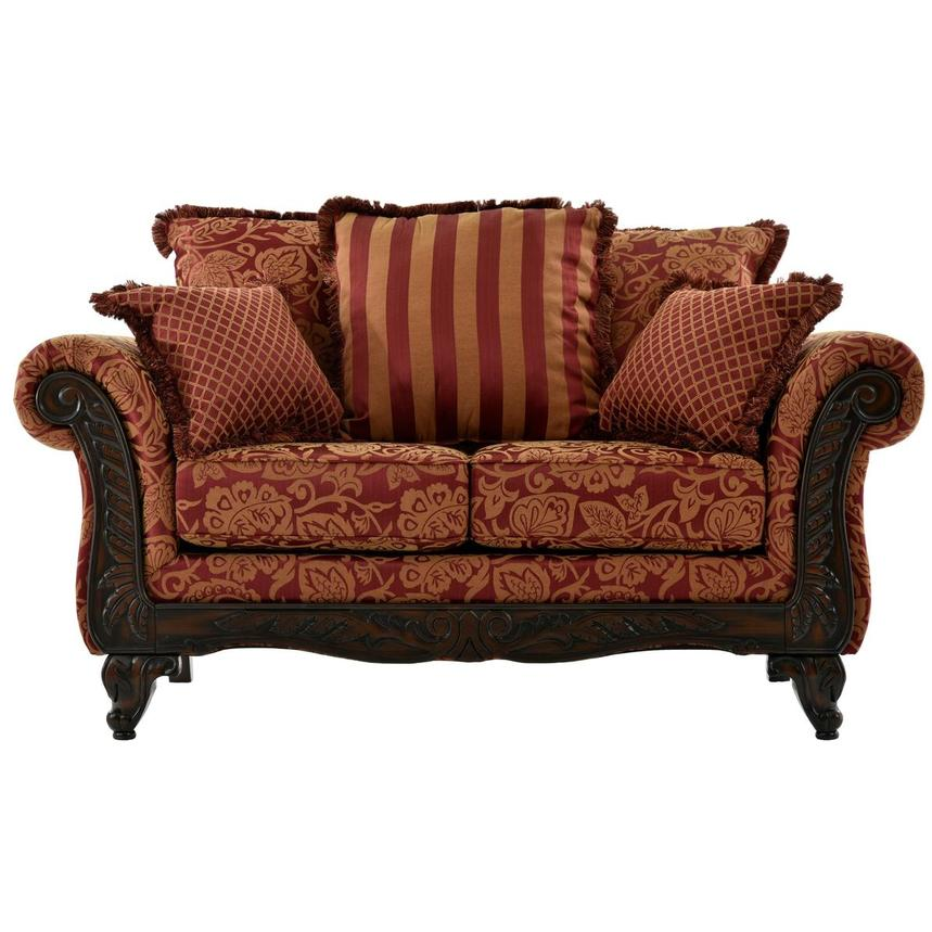 Ada Red Loveseat  main image, 1 of 7 images.