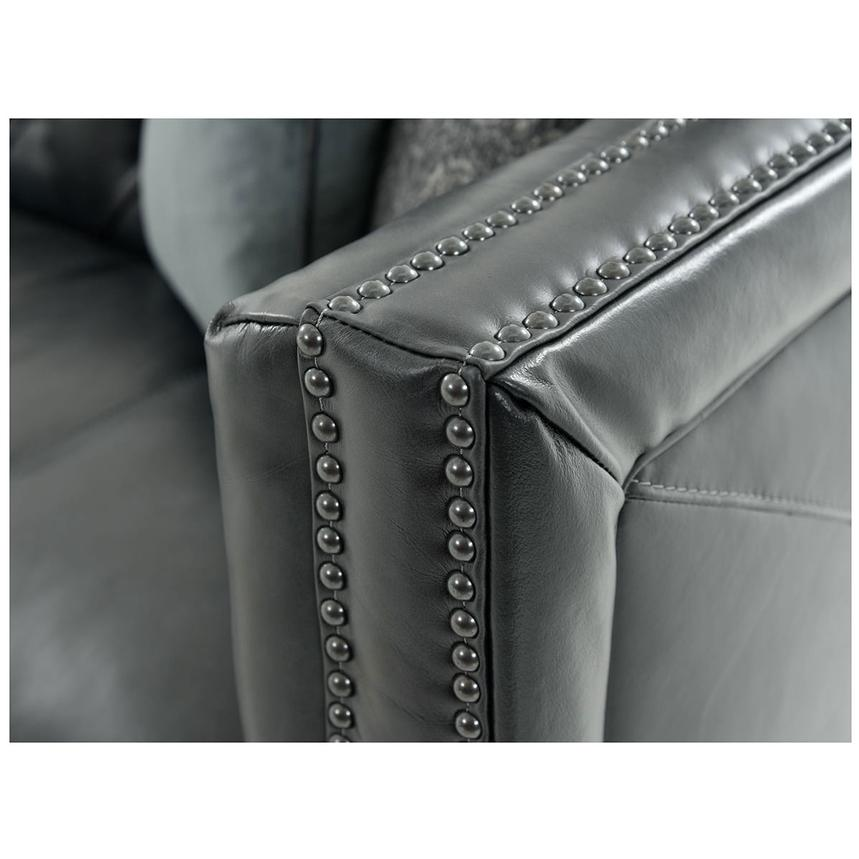 Sophia Black Leather Sofa  alternate image, 6 of 7 images.