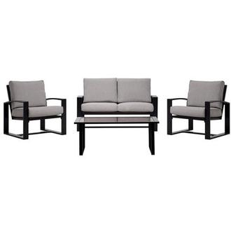 Almalfi Gray 4-Piece Patio Set