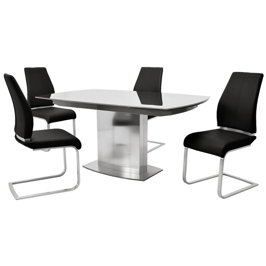 Mavis/Maday Black 5-Piece Formal Dining Set  main image, 1 of 12 images.
