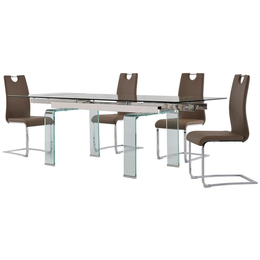 Millie/Josseline Taupe 5-Piece Formal Dining Set  alternate image, 2 of 12 images.