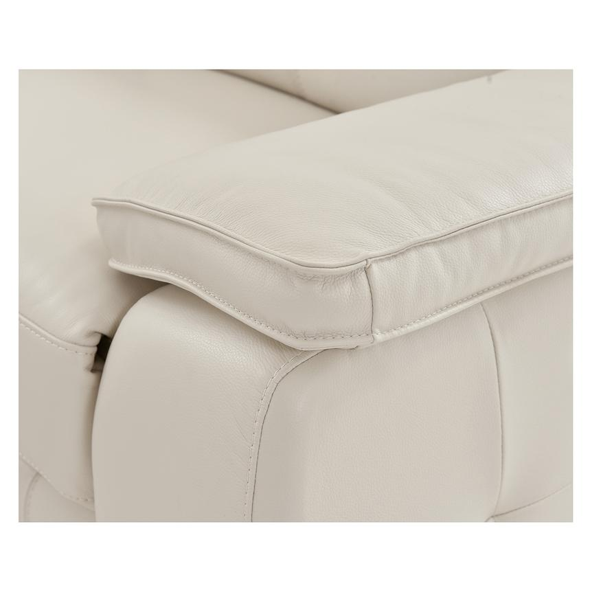 Gian Marco Cream Leather Power Reclining Sectional  alternate image, 6 of 8 images.