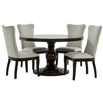 Liza 5-Piece Casual Dining Set w/12mm Glass Top