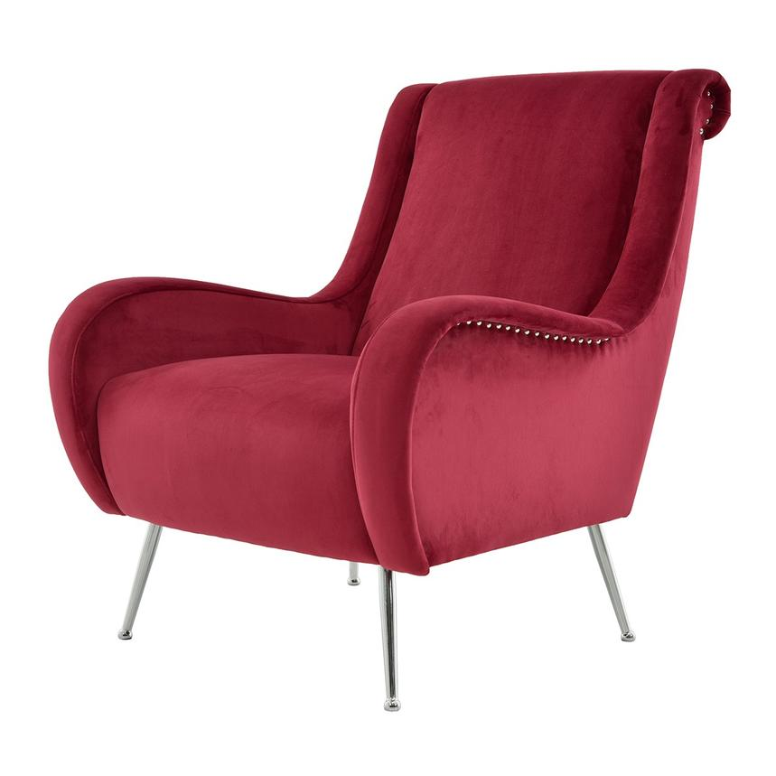 Morgan Red Accent Chair El Dorado Furniture