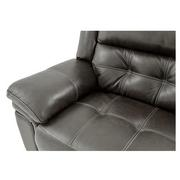 Stallion Gray Leather Power Reclining Loveseat  alternate image, 5 of 10 images.
