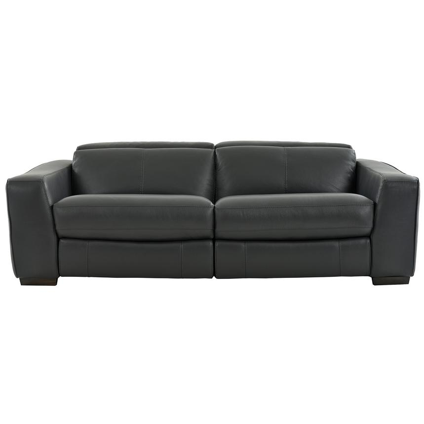 Jay Dark Gray Leather Power Reclining Sofa  main image, 1 of 7 images.