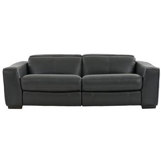 Jay Dark Gray Leather Power Reclining Sofa