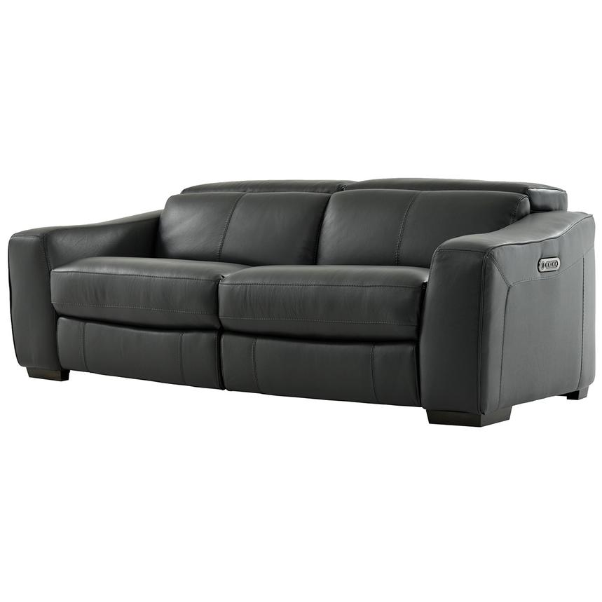 Jay Dark Gray Power Motion Leather Sofa  alternate image, 2 of 7 images.