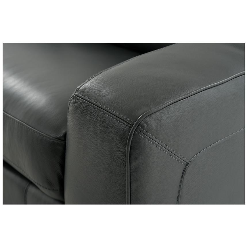 Jay Dark Gray Leather Power Reclining Sofa  alternate image, 6 of 7 images.