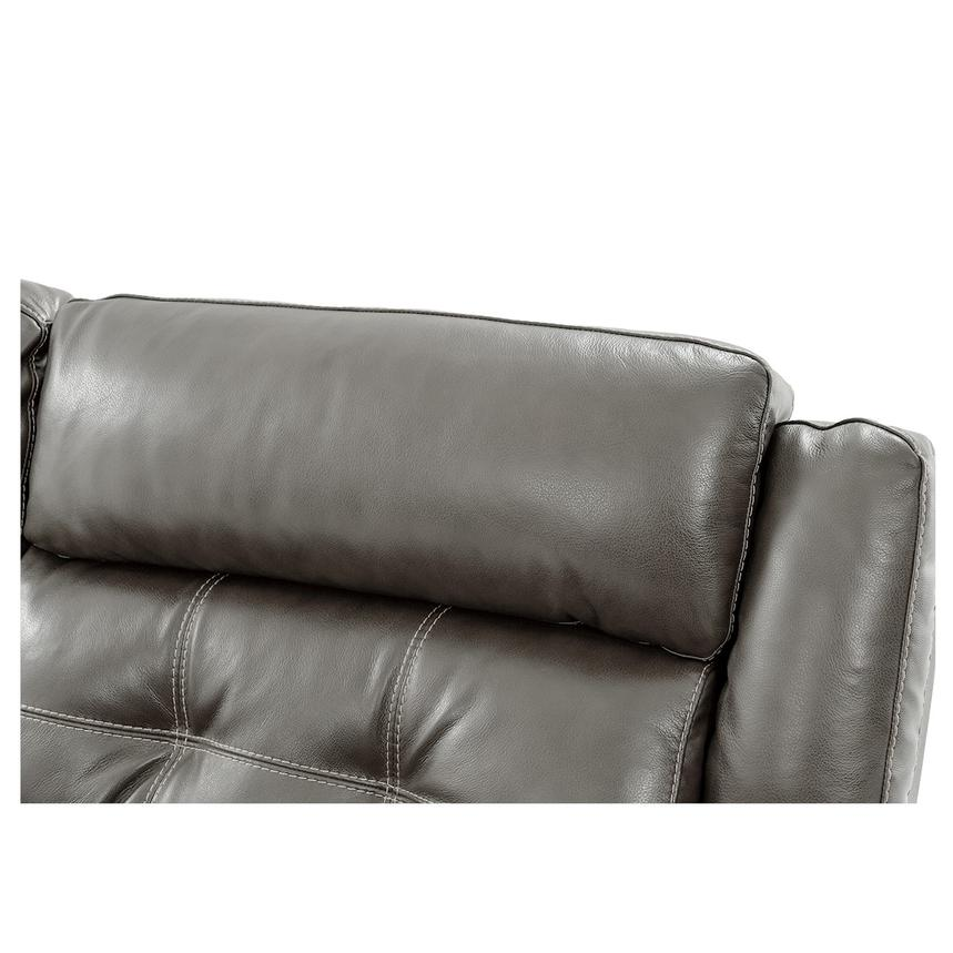 Stallion Gray Leather Power Reclining Sofa w/Console  alternate image, 7 of 10 images.