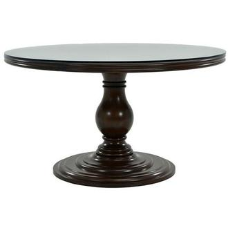 Liza Round Dining Table w/12mm Glass Top