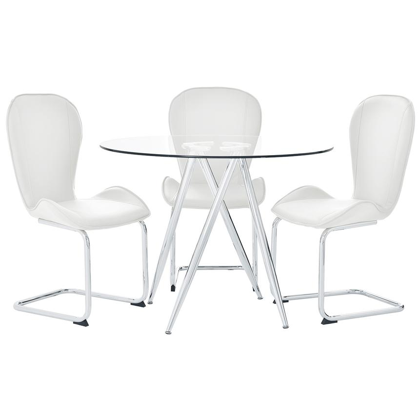 Latika White 4-Piece Casual Dining Set  main image, 1 of 11 images.