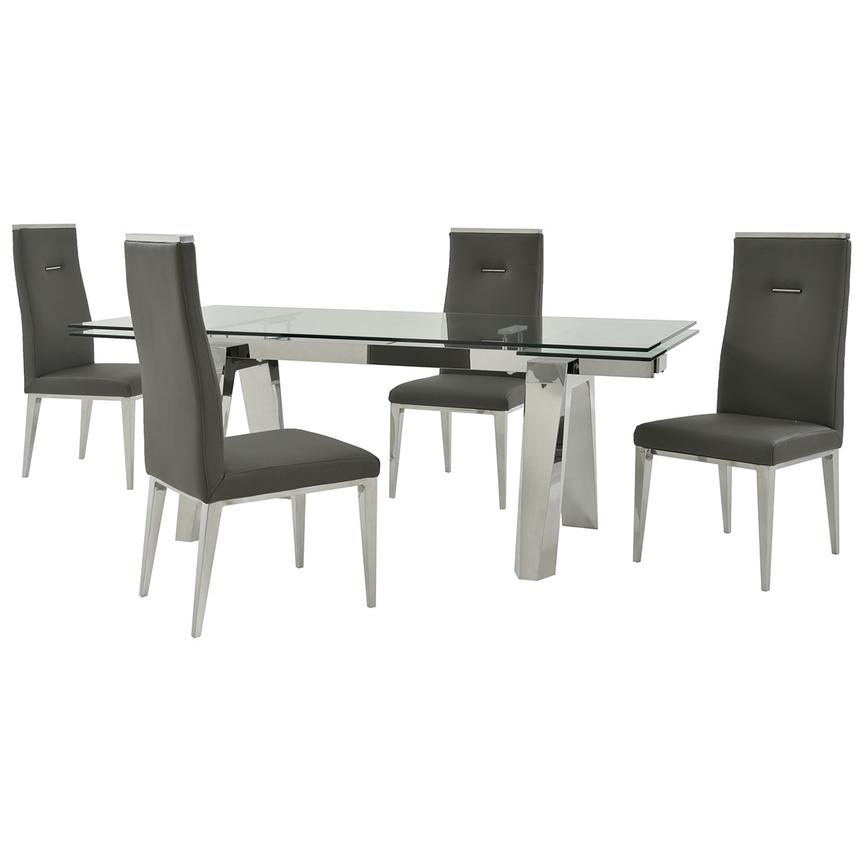 Madox/Hyde I Dark Gray 5-Piece Formal Dining Set  main image, 1 of 13 images.