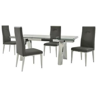 Madox/Hyde I Dark Gray 5-Piece Dining Set