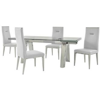 Madox/Hyde White 5-Piece Formal Dining Set
