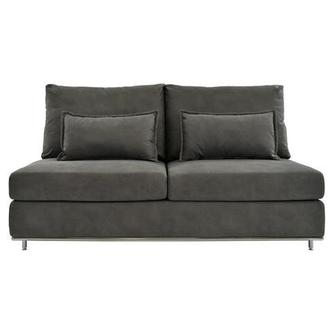Grigio Gray Armless Loveseat