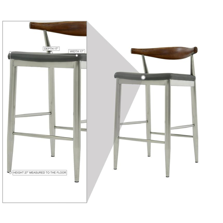 Timber Gray Counter Stool  alternate image, 9 of 9 images.