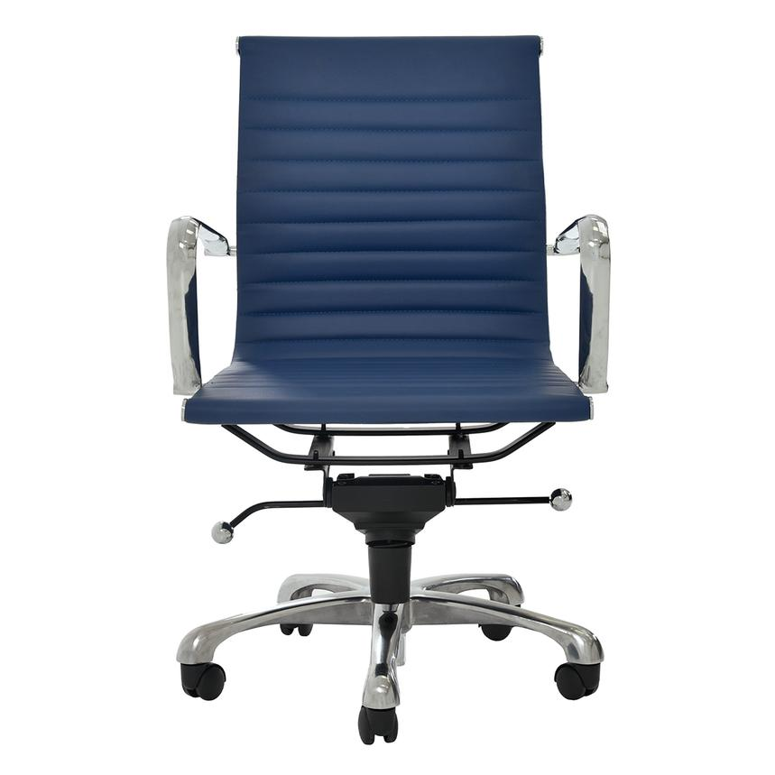Watson Blue Low Back Desk Chair  main image, 1 of 6 images.